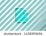 aqua color file icon on the...