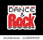 dance and rock symbol | Shutterstock .eps vector #1128394439