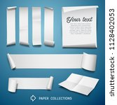 white paper roll collections... | Shutterstock .eps vector #1128402053