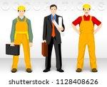 worker ocupation. people... | Shutterstock .eps vector #1128408626