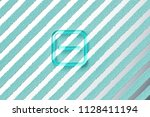aqua color minus in square icon ... | Shutterstock . vector #1128411194