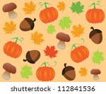 vector fall background | Shutterstock .eps vector #112841536