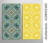 vertical seamless patterns set  ... | Shutterstock .eps vector #1128422183