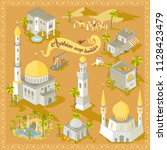 map builder isometric arabian... | Shutterstock .eps vector #1128423479