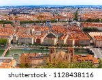 aerial view of lyon cityscape... | Shutterstock . vector #1128438116