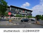 rennes  france  1 jul 2018 ... | Shutterstock . vector #1128444359