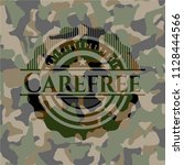 carefree on camouflage pattern | Shutterstock .eps vector #1128444566