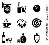 pub icons | Shutterstock .eps vector #112844584