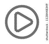 play button music from rope... | Shutterstock .eps vector #1128448349
