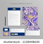 corporate identity business set.... | Shutterstock .eps vector #1128448634