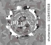 additional on grey camo pattern | Shutterstock .eps vector #1128455018