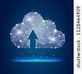 icon  cloud storage abstract... | Shutterstock . vector #1128464909