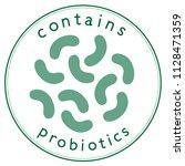 contains probiotics label in...   Shutterstock .eps vector #1128471359