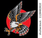 design eagle tattoo old school  ... | Shutterstock .eps vector #1128482810