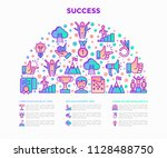 success concept in half circle... | Shutterstock .eps vector #1128488750