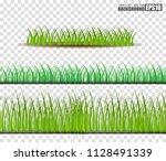 grass set  vector illustration | Shutterstock .eps vector #1128491339
