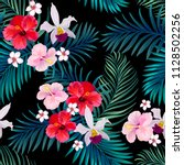 seamless tropical vector... | Shutterstock .eps vector #1128502256