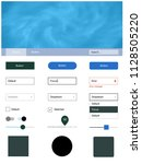 light blue  green vector ui kit ...