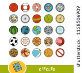 colorful set of circle shape... | Shutterstock .eps vector #1128506909