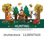 flat hunting template | Shutterstock .eps vector #1128507620
