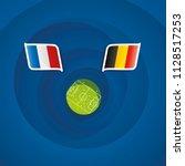 france vs belgium flags...   Shutterstock .eps vector #1128517253