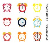 Collection Of Alarm. Vector...