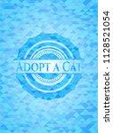 adopt a cat sky blue mosaic... | Shutterstock .eps vector #1128521054