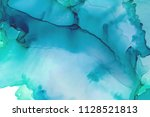 hand painted ink texture.... | Shutterstock . vector #1128521813