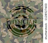 physician camouflage emblem | Shutterstock .eps vector #1128527603