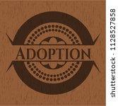 adoption wood emblem | Shutterstock .eps vector #1128527858