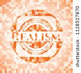 realism abstract orange mosaic... | Shutterstock .eps vector #1128527870