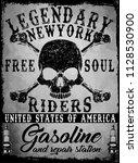 tee skull motorcycle graphic... | Shutterstock . vector #1128530900