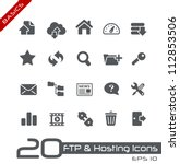 ftp   hosting icons    basics | Shutterstock .eps vector #112853506