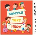 vector illustration of children'... | Shutterstock .eps vector #1128536723