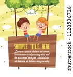 vector illustration of children ... | Shutterstock .eps vector #1128536726