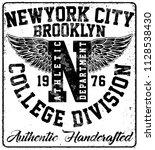 college new york typography  t... | Shutterstock . vector #1128538430