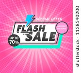flash sale banner template... | Shutterstock .eps vector #1128540200