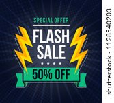 flash sale banner template... | Shutterstock .eps vector #1128540203
