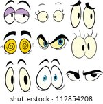 cartoon eyes. vector... | Shutterstock .eps vector #112854208