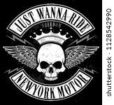 skull t shirt graphic design | Shutterstock . vector #1128542990