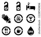 all inclusive room | Shutterstock .eps vector #1128543836