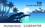 Vector Panorama Of Fiji With...