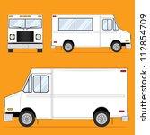 food truck blank   Shutterstock . vector #112854709