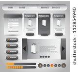 web designing element set   Shutterstock .eps vector #112854940
