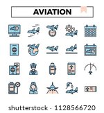 aviation filled outline icon... | Shutterstock .eps vector #1128566720