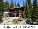 lake louise  ab   canada   july ... | Shutterstock . vector #1128569729
