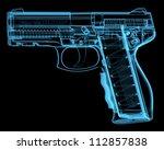 pistol  3d xray blue... | Shutterstock . vector #112857838