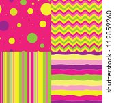 Set Of Vector Abstract Seamles...