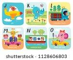 cute vector alphabet with...   Shutterstock .eps vector #1128606803