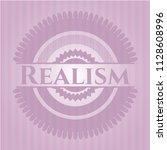 realism retro pink emblem | Shutterstock .eps vector #1128608996
